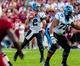 Aug 29, 2013; Columbia, SC, USA; North Carolina Tar Heels quarterback Bryn Renner (2) looks to pass against the South Carolina Gamecocks in the second quarter at Williams-Brice Stadium. Mandatory Credit: Jeff Blake-USA TODAY Sports