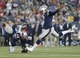 Aug 29, 2013; Foxborough, MA, USA; New England Patriots kicker Stephen Gostkowski (3) makes the extra point against the New York Giants in the second quarter at Gillette Stadium. Mandatory Credit: David Butler II-USA TODAY Sports
