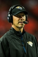 Aug 29, 2013; Atlanta, GA, USA; Jacksonville Jaguars head coach Gus Bradley coaches from the sidelines in the first quarter against the Atlanta Falcons at the Georgia Dome. Mandatory Credit: Daniel Shirey-USA TODAY Sports