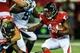 Aug 29, 2013; Atlanta, GA, USA; Atlanta Falcons fullback Jason Snelling (44) runs the ball in the first quarter against the Jacksonville Jaguars at the Georgia Dome. Mandatory Credit: Daniel Shirey-USA TODAY Sports