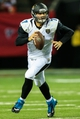 Aug 29, 2013; Atlanta, GA, USA; Jacksonville Jaguars quarterback Chad Henne (7) rolls out on a play in the first quarter against the Atlanta Falcons at the Georgia Dome. Mandatory Credit: Daniel Shirey-USA TODAY Sports