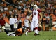 Aug 29, 2013; Denver, CO, USA; Arizona Cardinals kicker Jay Feely (4) reacts to his fifty two yard field goal during the second quarter of a preseason game against the Denver Broncos at Sports Authority Field. Mandatory Credit: Ron Chenoy-USA TODAY Sports
