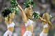 Aug 29, 2013; East Rutherford, NJ, USA; New York Jets Flight Crew cheerleaders perform during the second half of a preseason game against the Philadelphia Eagles at Metlife Stadium. The Jets won 27-20. Mandatory Credit: Joe Camporeale-USA TODAY Sports