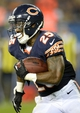 Aug 29, 2013; Chicago, IL, USA; Chicago Bears running back Armando Allen (25) rushes the ball against the Cleveland Browns during the fourth quarter at Soldier Field. The Cleveland Browns defeat the Chicago Bears 18-16. Mandatory Credit: Mike DiNovo-USA TODAY Sports