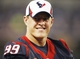 Aug 29, 2013; Arlington, TX, USA; Houston Texans j. J. Watt on the sideline during the game against the Dallas Cowboys at AT&T Stadium. Houston beat Dallas 24-6. Mandatory Credit: Tim Heitman-USA TODAY Sports