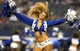 Aug 29, 2013; Arlington, TX, USA; Dallas Cowboys cheerleader Katie Marie performs during the second half against the Houston Texans at AT&T Stadium. Mandatory Credit: Matthew Emmons-USA TODAY Sports