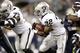 Aug 29, 2013; Seattle, WA, USA; Oakland Raiders fullback Jeremy Stewart (32) rushes against the Seattle Seahawks during the second half at CenturyLink Field. Mandatory Credit: Joe Nicholson-USA TODAY Sports