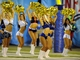 Aug 29, 2013; San Diego, CA, USA; San Diego Chargers charger girls cheerleaders perform during the second half against the San Francisco 49ers at Qualcomm Stadium. Mandatory Credit: Christopher Hanewinckel-USA TODAY Sports