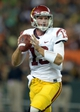 Aug 29, 2013; Honolulu, HI, USA; Southern California Trojans quarterback Max Wittek (15) throws a pass against the Hawaii Rainbow Warriors at Aloha Stadium. USC defeated Hawaii 30-13. Mandatory Credit: Kirby Lee-USA TODAY Sports