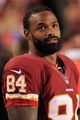 Aug 19, 2013; Landover, MD, USA; Washington Redskins tight end Niles Paul (84) looks on from the sidelines against the Pittsburgh Steelers at FedEx Field. Mandatory Credit: Geoff Burke-USA TODAY Sports