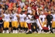 Aug 19, 2013; Landover, MD, USA; Washington Redskins running back Roy Helu (29) carries the ball against the Pittsburgh Steelers at FedEx Field. Mandatory Credit: Geoff Burke-USA TODAY Sports