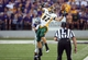 Aug 30, 2013; Manhattan, KS, USA; North Dakota State Bison wide receiver Zach Vraa (82) tries to make a catch while being hit by Kansas State Wildcats defensive back Dorrian Roberts (4) during the first half at Bill Snyder Family Stadium. Mandatory Credit: Scott Sewell-USA TODAY Sports