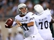 Aug 30, 2013; East Lansing, MI, USA; Western Michigan Broncos quarterback Zach Terrell (11) attempts to throw the ball against the Michigan State Spartans during 1st half of a game at Spartan Stadium.   Mandatory Credit: Mike Carter-USA TODAY Sports