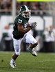 Aug 30, 2013; East Lansing, MI, USA; Michigan State Spartans wide receiver Bennie Fowler (13) runs the ball after the catch against the Western Michigan Broncos during 1st half of a game at Spartan Stadium.   Mandatory Credit: Mike Carter-USA TODAY Sports