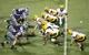 Aug 30, 2013; Manhattan, KS, USA; North Dakota State Bison quarterback Brock Jensen (16) calls a play during a 24-21 win against the Kansas State Wildcats at Bill Snyder Family Stadium. Mandatory Credit: Scott Sewell-USA TODAY Sports
