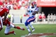 August 31, 2013; Raleigh, NC, USA;   Louisiana Tech wide receiver Sterling Griffin (4) makes a 1st quarter catch against North Carolina State at Carter Finley Stadium. Mandatory Credit: James Guillory-USA TODAY Sports