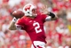Aug 31, 2013; Madison, WI, USA; Wisconsin Badgers quarterback Joel Stave (2) throws a pass during the third quarter against the Massachusetts Minutemen at Camp Randall Stadium. Mandatory Credit: Jeff Hanisch-USA TODAY Sports