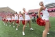 Aug 31, 2013; Madison, WI, USA;  Wisconsin Badgers cheerleaders perform during the fourth quarter against the Massachusetts Minutemen at Camp Randall Stadium.  Wisconsin won 45-0.  Mandatory Credit: Jeff Hanisch-USA TODAY Sports