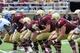 Aug 31, 2013; Boston, MA, USA; The Boston College Eagles offensive line during the second half against the Villanova Wildcats at Alumni Stadium. Mandatory Credit: Bob DeChiara-USA TODAY Sports