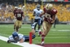 Aug 31, 2013; Boston, MA, USA; Boston College Eagles wide receiver Alex Amidon (83) scores an apparent touchdown only to have it called back due to a penalty during the second half against the Villanova Wildcats at Alumni Stadium. Mandatory Credit: Bob DeChiara-USA TODAY Sports