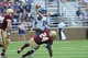 Aug 31, 2013; Boston, MA, USA; Villanova Wildcats quarterback John Robertson (19) throws a screen pass during the second half against the Boston College Eagles at Alumni Stadium. Mandatory Credit: Bob DeChiara-USA TODAY Sports