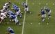 Aug 31, 2013; Durham, NC, USA; Duke Blue Devils quarterback Anthony Boone (7) takes the snap against the North Carolina Central Eagles at Wallace Wade Stadium. Mandatory Credit: Mark Dolejs-USA TODAY Sports