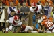 Aug 31, 2013; Clemson, SC, USA; Georgia Bulldogs fullback Quayvon Hicks (48) fumbles the ball during the third quarter at Clemson Memorial Stadium. Mandatory Credit: Joshua S. Kelly-USA TODAY Sports