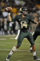 Aug 31, 2013; Waco, TX, USA; Baylor Bears quarterback Bryce Petty (14) drops back to pass against the Wofford Terriers during the second half of the game at Floyd Casey Stadium. The Bears defeated the Terriers 69-3. Mandatory Credit: Jerome Miron-USA TODAY Sports