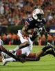 Aug 31, 2013; Auburn, AL, USA; Auburn Tigers running back Corey Grant (20) runs the ball during the second half against the Washington State Cougars at Jordan Hare Stadium. The Tigers defeated the Cougars 31-24. Mandatory Credit: Shanna Lockwood-USA TODAY Sports