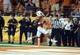 Aug 31, 2013; Austin, TX, USA; Texas Longhorns wide receiver Daje Johnson (4) scores a touchdown against the New Mexico State Aggies during the second half at Darrell K Royal-Texas Memorial Stadium. Texas beat New Mexico State 56-7. Mandatory Credit: Brendan Maloney-USA TODAY Sports