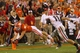 Aug 31, 2013; Clemson, SC, USA; Clemson Tigers wide receiver Stanton Seckinger (81) scores a touchdown during the fourth quarter against the Georgia Bulldogs at Clemson Memorial Stadium. Tigers won 38-35. Mandatory Credit: Joshua S. Kelly-USA TODAY Sports