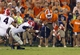 Aug 31, 2013; Clemson, SC, USA;  Clemson Tigers quarterback Tajh Boyd (10) dives for a first down during the fourth quarter against the Georgia Bulldogs at Clemson Memorial Stadium. Clemson defeated Georgia 38-35. Mandatory Credit: Jeremy Brevard-USA TODAY Sports