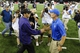 Aug 31, 2013; Seattle, WA, USA; Washington Huskies head coach Steve Sarkisian (left) and Boise State Broncos head coach Chris Peterson (right) shake hands after the game between the Washington Huskies and the Boise State Broncos at Husky Stadium. Washington defeated Boise State 38-6. Mandatory Credit: Steven Bisig-USA TODAY Sports