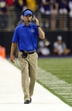 Aug 31, 2013; Seattle, WA, USA; Boise State Broncos head coach Chris Peterson during the game against the Washington Huskies at Husky Stadium. Washington defeated Boise State 38-6. Mandatory Credit: Steven Bisig-USA TODAY Sports