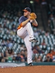 Sep 1, 2013; Houston, TX, USA; Houston Astros starting pitcher Brett Oberholtzer (65) delivers a pitch during the fourth inning against the Seattle Mariners at Minute Maid Park. Mandatory Credit: Troy Taormina-USA TODAY Sports