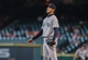 Sep 1, 2013; Houston, TX, USA; Seattle Mariners starting pitcher Hisashi Iwakuma (18) reacts after a pitch during the fourth inning against the Houston Astros at Minute Maid Park. Mandatory Credit: Troy Taormina-USA TODAY Sports