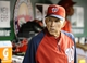 Sep 1, 2013; Washington, DC, USA; Washington Nationals manager Davey Johnson in the dugout during the fourth inning against the New York Mets at Nationals Park. Mandatory Credit: Brad Mills-USA TODAY Sports