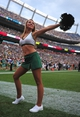 Sep 1, 2013; Denver, CO, USA; Colorado State Rams cheerleader performs during the game against the Colorado Buffaloes in the fourth quarter at Sports Authority Field at Mile High. The Buffaloes defeated the Rams 41-27. Mandatory Credit: Ron Chenoy-USA TODAY Sports
