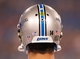 Aug 29, 2013; Orchard Park, NY, USA; A general view of the helmet of Detroit Lions quarterback Shaun Hill (14) during the game against the Buffalo Bills at Ralph Wilson Stadium. The Lions beat the Bills 35-13. Mandatory Credit: Kevin Hoffman-USA TODAY Sports
