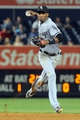 Sep 3, 2013; Bronx, NY, USA; Chicago White Sox shortstop Alexei Ramirez (10) throws out New York Yankees second baseman Robinson Cano (not pictured) during the sixth inning of a game at Yankee Stadium. Mandatory Credit: Brad Penner-USA TODAY Sports
