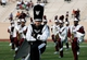 Aug 31, 2013; Durham, NC, USA; North Carolina Central Eagles drum major Zach Torrens leads the marching band during halftime of their game against the Duke Blue Devils at Wallace Wade Stadium. Mandatory Credit: Mark Dolejs-USA TODAY Sports
