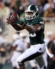 Aug 30, 2013; East Lansing, MI, USA; Michigan State Spartans linebacker Jairus Jones (23) celebrates a turnover recovery against the Western Michigan Broncos during 2nd  half of a game at Spartan Stadium. MSU won 26-13.   Mandatory Credit: Mike Carter-USA TODAY Sports