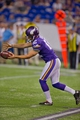 Aug 29, 2013; Minneapolis, MN, USA; Minnesota Vikings punter Jeff Locke (12) punts to the Tennessee Titans at Mall of America Field at H.H.H. Metrodome. Vikings win 24-23. Mandatory Credit: Bruce Kluckhohn-USA TODAY Sports