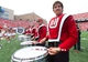 Aug 31, 2013; Madison, WI, USA; Members of the Wisconsin marching band perform during the game against the Massachusetts Minutemen at Camp Randall Stadium.  Wisconsin won 45-0.  Mandatory Credit: Jeff Hanisch-USA TODAY Sports