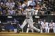 Sep 4, 2013; Kansas City, MO, USA; Seattle Mariners designated hitter Kendrys Morales (8) hits a 2 run home run against the Kansas City Royals in the ninth inning at Kauffman Stadium. Mandatory Credit: John Rieger-USA TODAY Sports