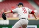 Sep 5, 2013; Cincinnati, OH, USA; St. Louis Cardinals starting pitcher Lance Lynn (31) pitches during the first inning against the Cincinnati Reds at Great American Ball Park. Mandatory Credit: Frank Victores-USA TODAY Sports