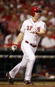 Sep 5, 2013; Cincinnati, OH, USA; Cincinnati Reds right fielder Jay Bruce (32) bats during the third inning against the St. Louis Cardinals at Great American Ball Park. Mandatory Credit: Frank Victores-USA TODAY Sports