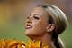 Sep 5, 2013; Tempe, AZ, USA;  An Arizona State Sun Devils cheerleader performs during the second half against the Sacramento State Hornets at Sun Devil Stadium. Mandatory Credit: Matt Kartozian-USA TODAY Sports