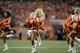 Sep 5, 2013; Denver, CO, USA; Denver Broncos cheerleader performs during the game against the Baltimore Ravens at Sports Authority Field at Mile High. The Broncos defeated the Ravens 49-27. Mandatory Credit: Ron Chenoy-USA TODAY Sports