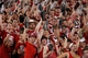 Aug 31, 2013; Lincoln, NE, USA; Nebraska Cornhuskers fans hold a shoe prior to the kickoff against the Wyoming Cowboys in the second half at Memorial Stadium. Nebraska won 37-34. Mandatory Credit: Bruce Thorson-USA TODAY Sports